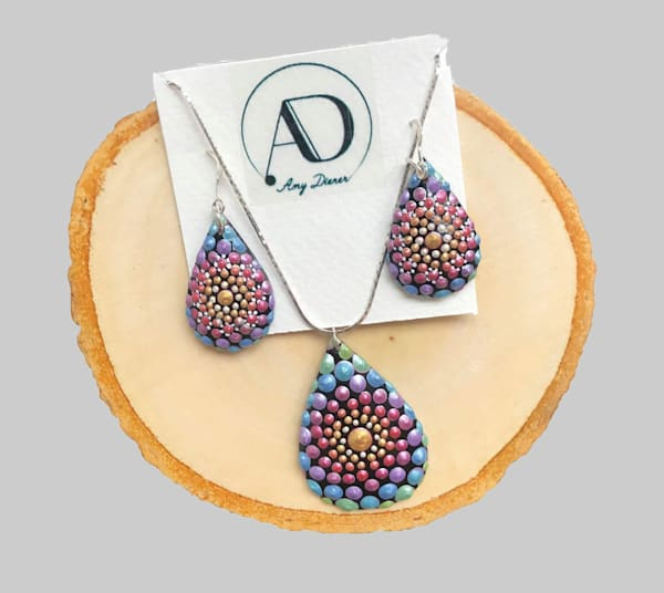 Drop Pendants + Earrings Set (F)