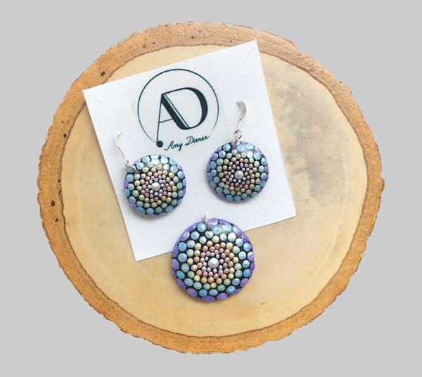 Circle Pendants Earrings Set (G)