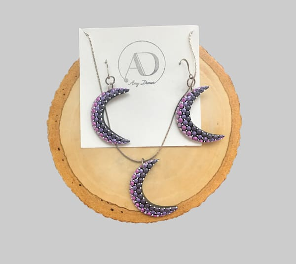 Moon Pendant Earrings Set (I)