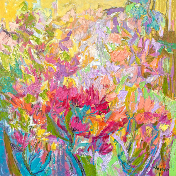 Colorful Playful Floral Abstract