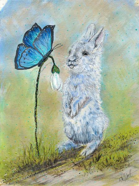 Blue Bunny Art   lisaabbott
