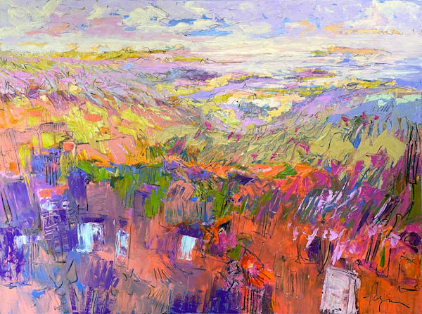 Purple Abstract Landscape Painting