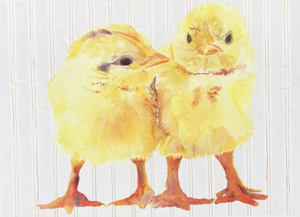 Watercolor Baby Chicks