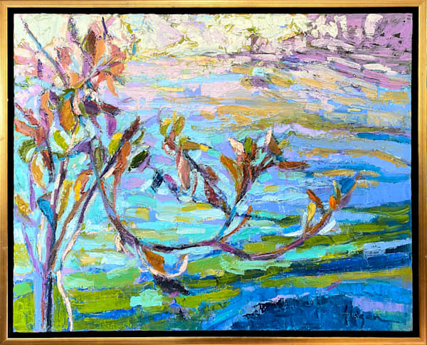 Contemporary Water Reflections Original Oil Painting by Dorothy Fagan