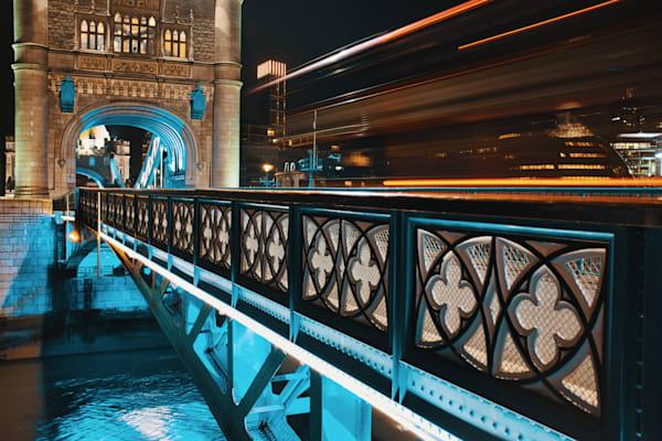 Trail Over Tower Bridge Art   Martin Geddes Photography