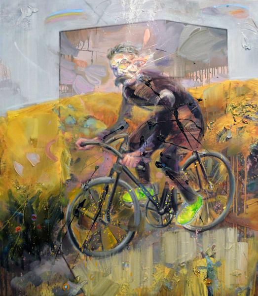 Nietzsche On A Bike Art | Mathieu Laca