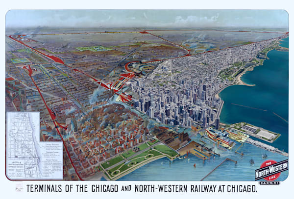 Terminals Of The Chicago And North Western Railway 1902 Art | Mark Hersch Photography
