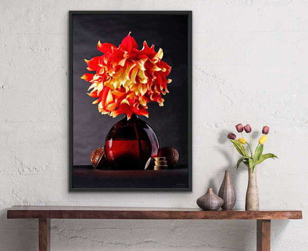 The Variegated Flame Dahlia | LUMINOS ART EDITIONS