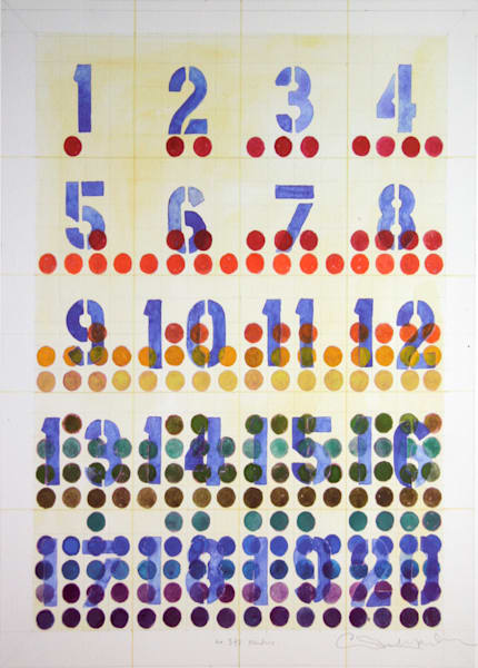 Numbers Art | Courtney Miller Bellairs Artist