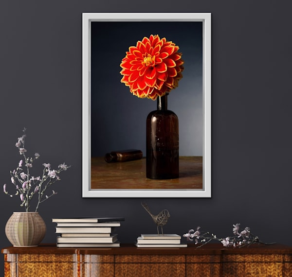 The Mystery Of The Red Dahlia | LUMINOS ART EDITIONS