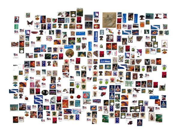 Stamp Collection Art | Courtney Miller Bellairs Artist