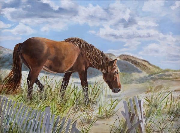 Dune Horse Art Print