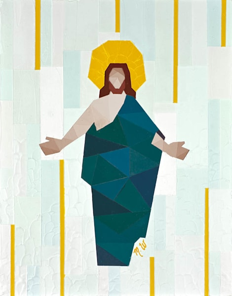 Christ in Blue Robe