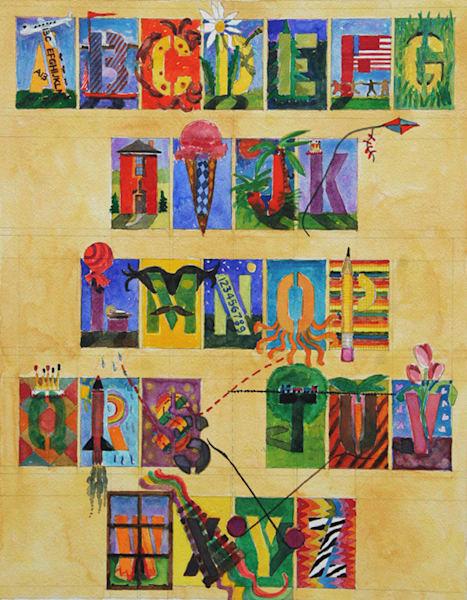 Alphabet Art | Courtney Miller Bellairs Artist