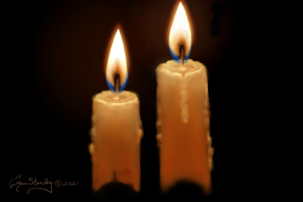 Two Candles Lighting the Darkness