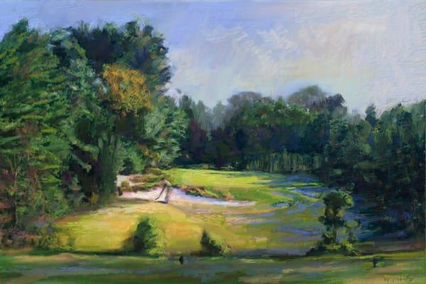 Pine Valley golf painting   Sports artist Mark Trubisky   Custom Sports Art