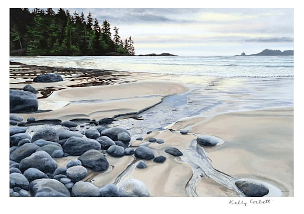 Folded greeting card of Renew, inspired by Florencia Bay in Ucluelet