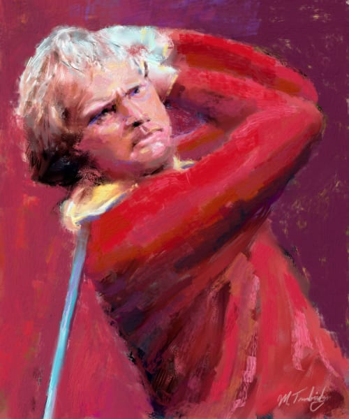 Jack Nicklaus painting   Sports artist Mark Trubisky   Custom Sports Art