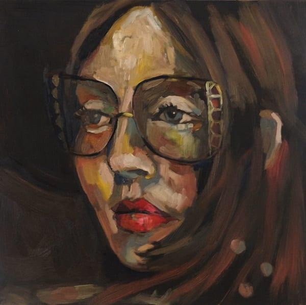 Model With Glasses Art | Giordano