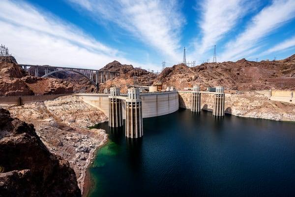 The Hoover Dam and Colorado River - Hoover Dam Art | William Drew