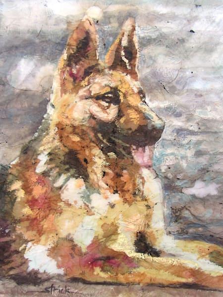 Tuckered Shepherd Art | Strickly Art