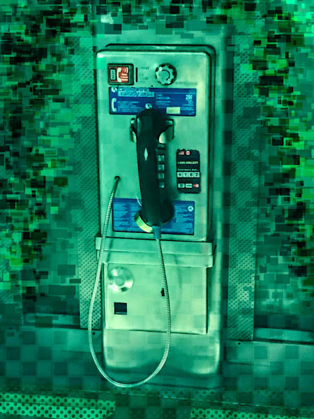 Pay Phone In Green