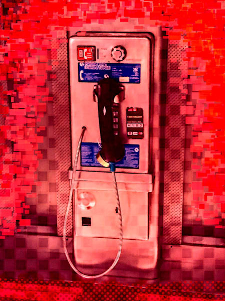 Pay Phone in Red