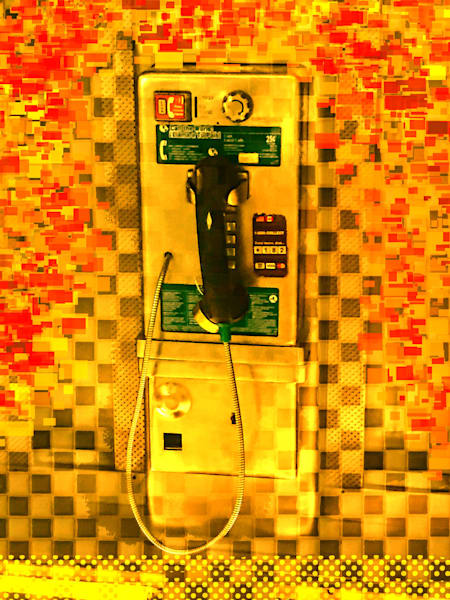 Pay Phone In Yellow