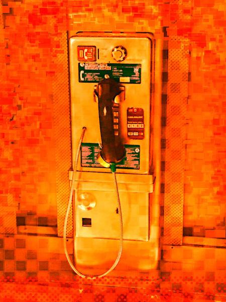 Pay Phone In Orange