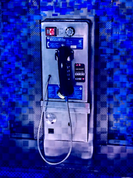 Pay Phone In Blue