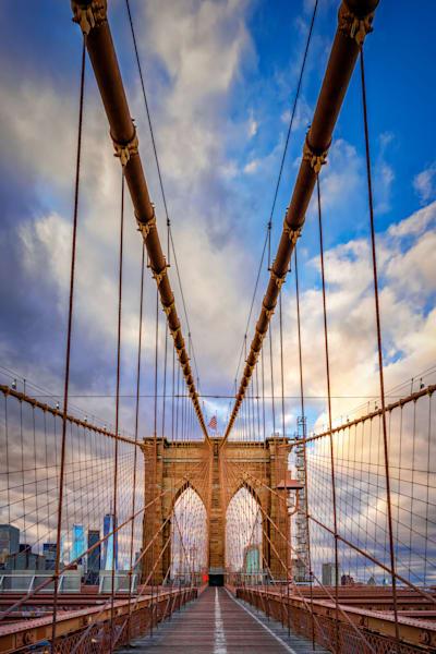 Spring Evening on the Brooklyn Bridge | Shop Photography by Rick Berk