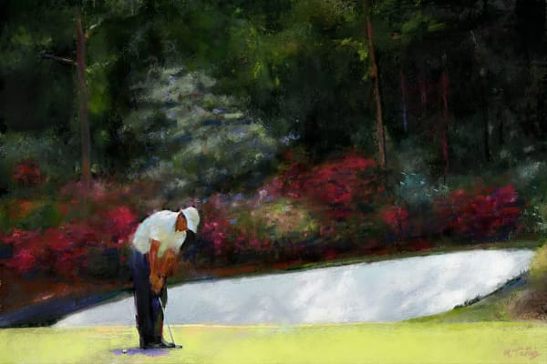 Augusta National golf painting   Sports artist Mark Trubisky   Custom Sports Art
