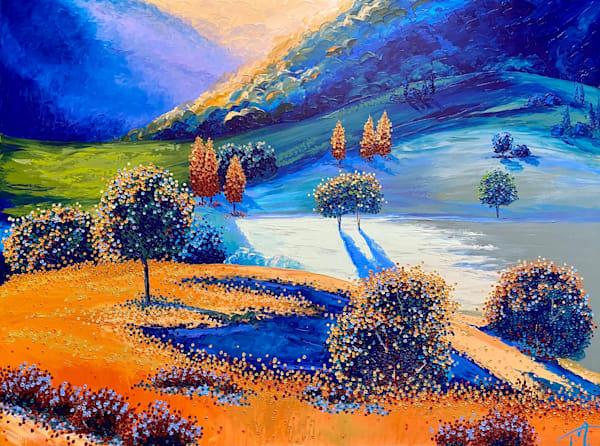 Rhapsody In Blue   Original Oil Painting Art | Tessa Nicole Art