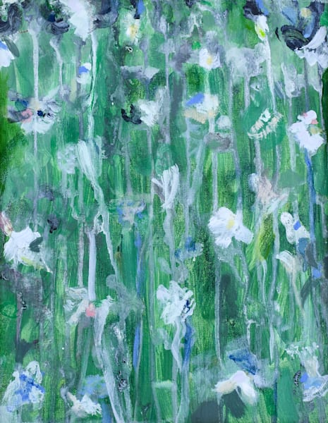 Flower Shadows In Green  Original Sold Art | All Together Art, Inc Jane Runyeon Works of Art