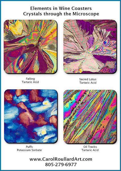 Elements In Wine   Set Of 4 Coasters | Carol Roullard Art