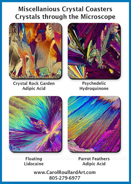 Misc. Micro Crystals   Set Of 4 Coasters | Carol Roullard Art