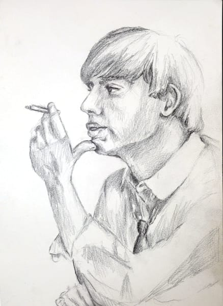 Contemplation Sketch Art   Giordano