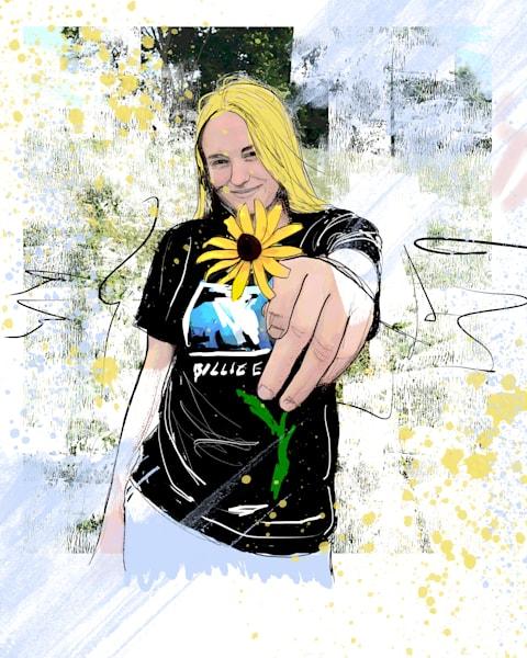 Sunflower Girl Art | John Knell: Art. Photo. Design