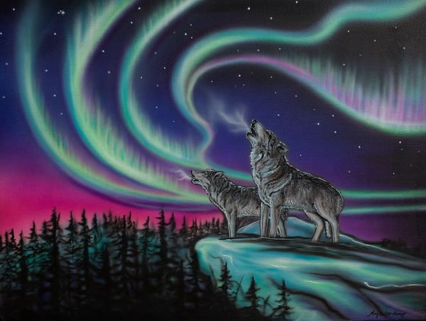 Sky Dance   Wolf Song Art | Amy Keller Rempp Art