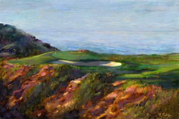 Torrey Pines golf course painting   Sports artist Mark Trubisky   Custom Sports Art