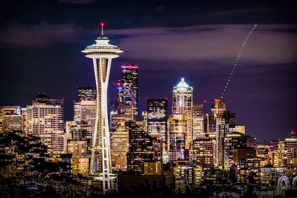 Space Needle Skyline Art Print