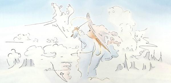 The Cloud Wizard - Original Oil Painting