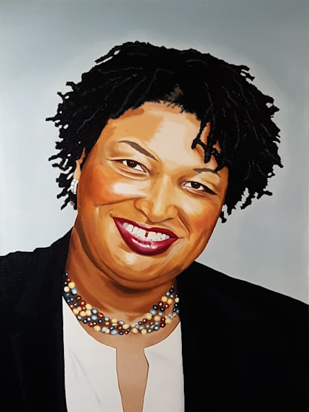 Stacey Abrams - Original Oil Painting