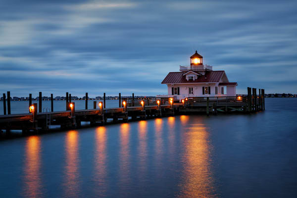 Twilight at Roanoke Marshes Lighthouse | Shop Photography by Rick Berk