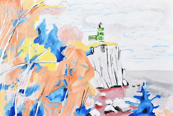 Split Rock L Ighthouse Mn Art | eddie hamilton art