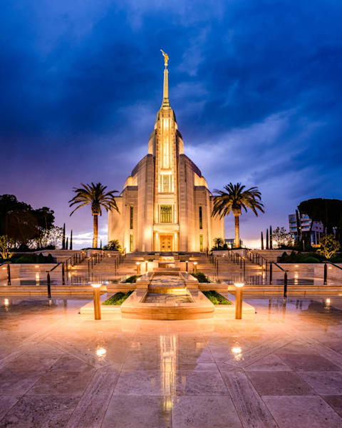 Rome Italy Temple - Stormy Evening