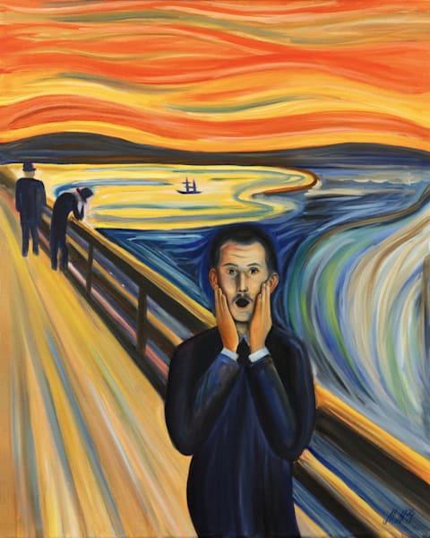 Screaming Ghost | Original Oil Painting Art | MMG Art Studio | Fine Art Colorado Gallery