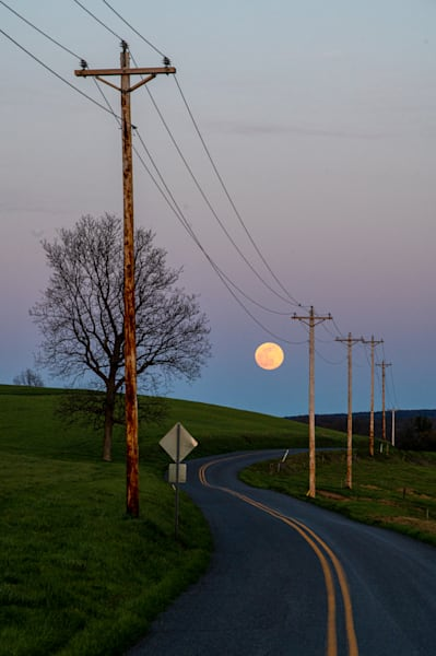 Super Moon Road Art | Brandon Hirt Photo