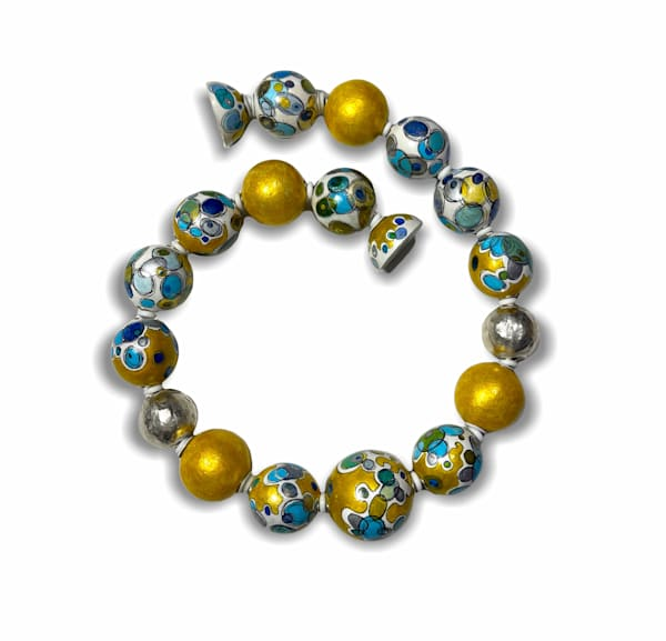 "Golden Blue ""Radiolaria"" Necklace | smalljoysstudio"