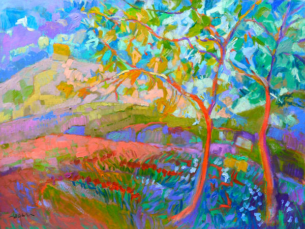 Oversize Landscape with Trees, Wall Art Painting by Dorothy Fagan